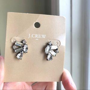 JCrew Wings Crystal Stud Earrings